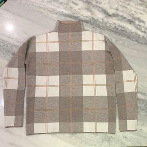 Rachel Zoe plaid Mock Sweater